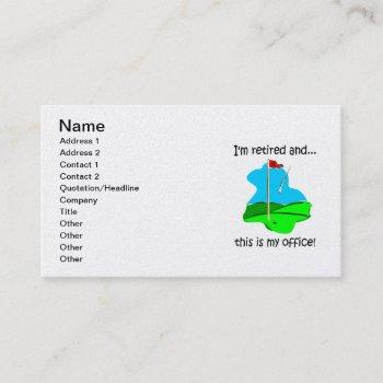 golf and retirement business card