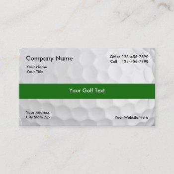 golf business cards logo back