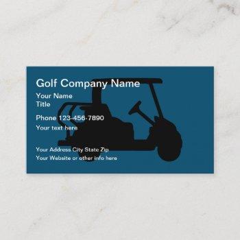golf cart theme business card
