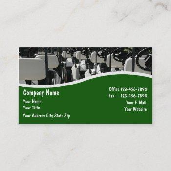 golf carts dealer and repair business card