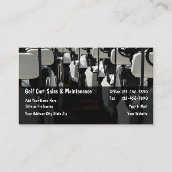 golf carts sales maintenance business card