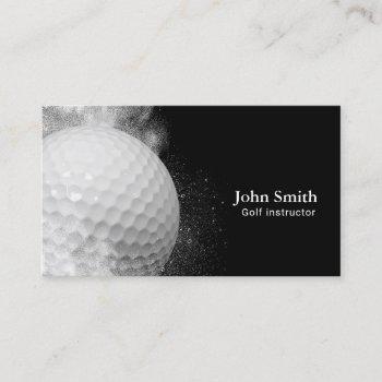 golf instructor golf ball business card