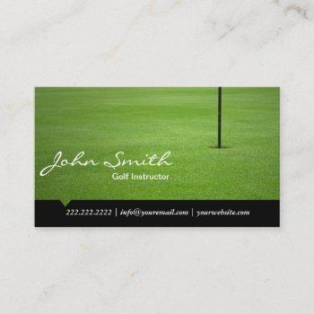 golf instructor hole in one professional business card