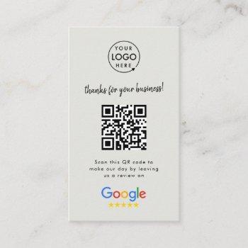 google reviews   business review us gray qr code business card