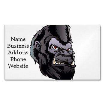 gorilla head illustration business card magnet