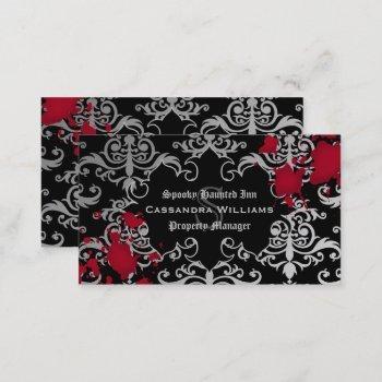 gothic vampire halloween business card