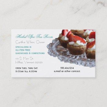 gourmet eatery food service custom business card