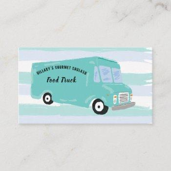 gourmet food truck business cards