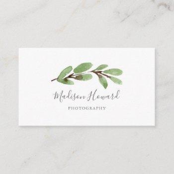 graceful greenery minimal business card
