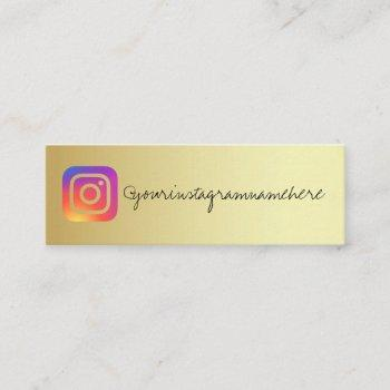 gradient gold social media business card