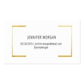 Small Graduation Gold | Elegant Name Card Back View