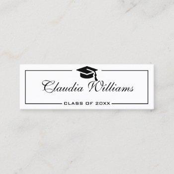graduation name card . elegant classic insert card