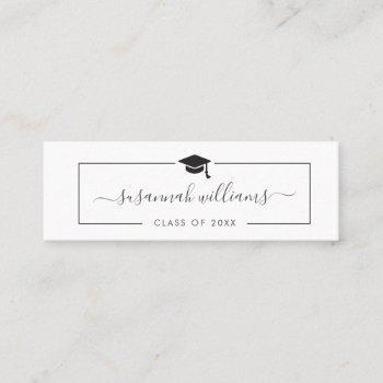 graduation name card | modern script insert card