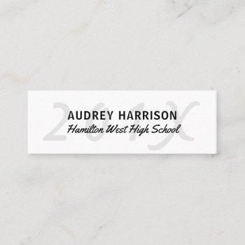 graduation name card senior year insert gray key 2