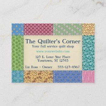grandma's quilt border custom business card