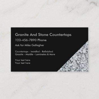 granite decorating business cards