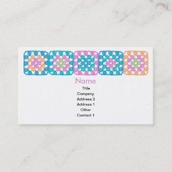 granny squares business card