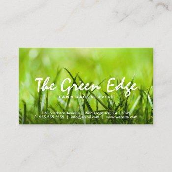 grass cutting lawn care landscaping gardening business card
