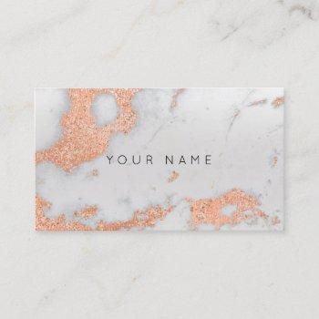 gray rose copper gold  marble metallic stylist business card