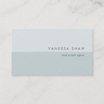 grayed jade   modern colorblock business card