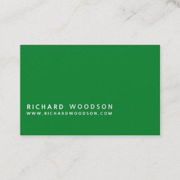 green agriculture   woodlot farmer minimalist business card