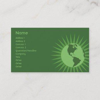 green - business business card