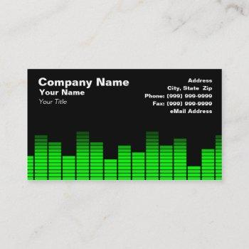 green digital equalizer leds business card