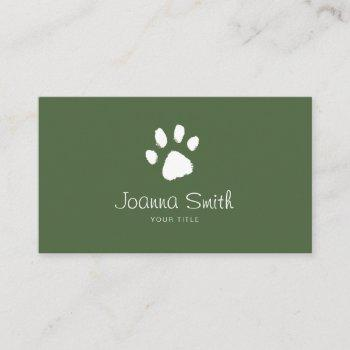 green paw dog walking pet sitting vet appointment