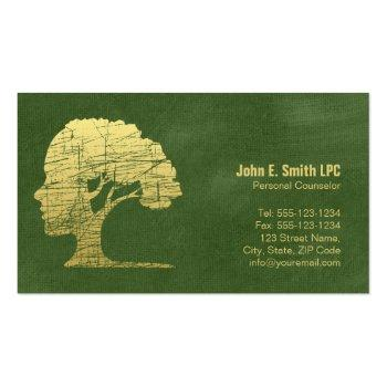 Small Green Psychologist Personal Counselor Appointment Front View