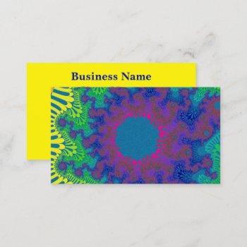 green rainbow sunburst business card