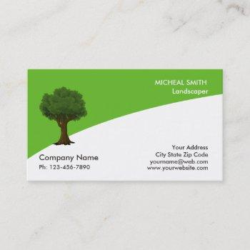 green tree garden lawn care and landscape business card