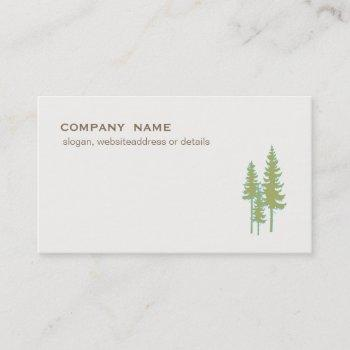 green trees evergreen nature and landscaping business card