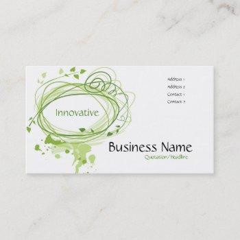green vines business card