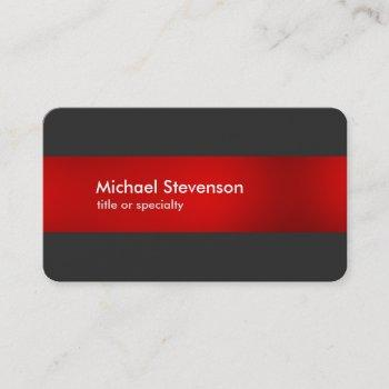grey red striped modern round corner business card