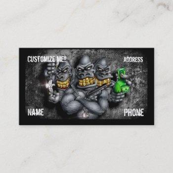 grillaz customizable gorillas business card
