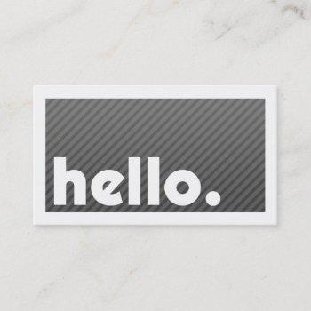 groupon hello black stripes company business card