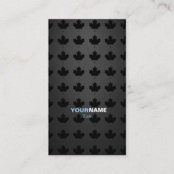 groupon maple leaf business card