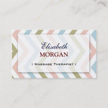 groupon - massage therapist graceful chevron business card
