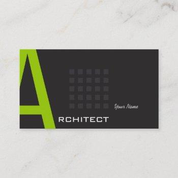 groupon modern architect typography business card