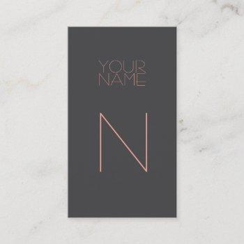 groupon modern gray pink business card