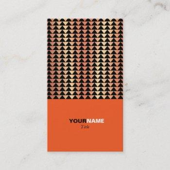 groupon modern orange business card