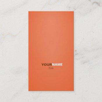 groupon orange business card