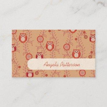 groupon owls mommy calling cards