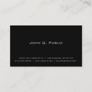 groupon - simple plain black business card