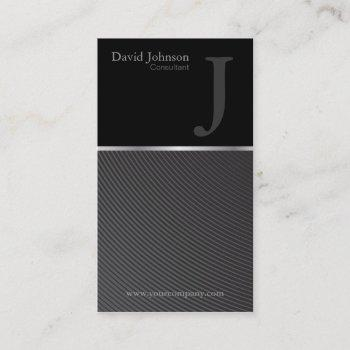 groupon sleek consultant monogram business card