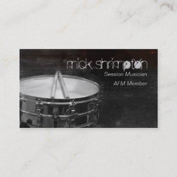 grunge drummer musician business card