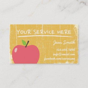 grunge gold wood texture & big apple business card
