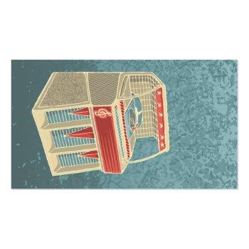 Small Grunge Jukebox Business Card Back View