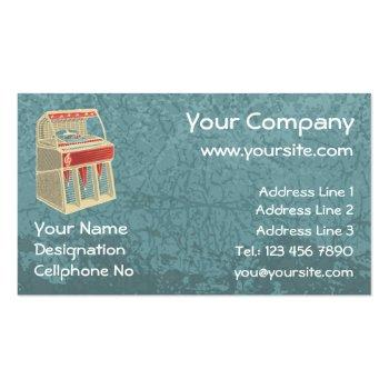 Small Grunge Jukebox Business Card Front View