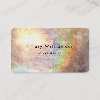 grunge pastel tan beige business card